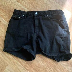 Calvin Klein Black High Rise Shorts
